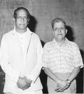 Bhimsen Joshi with the author in 1983.