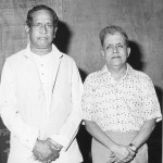 The author with Pandit Bhimsen Joshi.