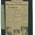 Indian Music Today: Masters of Rampur Tradition